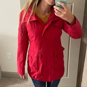 Cole Haan red fall jacket wind breaker